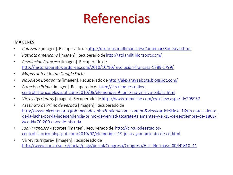 ReferenciasIMÁGENES. Rousseau [imagen]. Recuperado de http://usuarios.multimania.es/Cantemar/Rousseau.html.